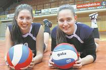 Volejbalistky Daniela Černá (vlevo) a Eva Valentová to dotáhly do reprezentace.