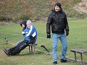 Trenér Petr Novotný. Olympie Týn doma podlehla v posledním letošním zápase Vacovu 1:3.