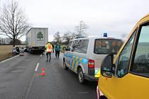 Havárie u Dasného zablokovala silniční tah Budějovice - Písek v sobotu 29. 2. 2020 dopoledne. Policie předpokládá odklon dopravy až do 13 hodin.