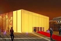 Prázdné prostranství na Mariánském náměstí by mohlo zaplnit nové sídlo Jihočeské filharmonie. Takto si ho představuje student architektury z Chile Rodrigo Vargase, který nyní uspěl v architektonické soutěži.