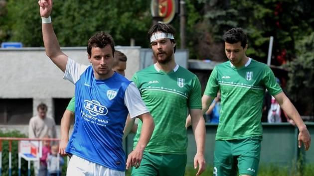 Adnan Džafič dal ve vítězném zápase Táborska v Praze domácímu Vltavínu dva góly.