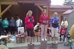 Nejlepší ženy v kategorii do 39 let. Zleva Aneta Krausová, Lenka Machová a Gabriela Malátová
