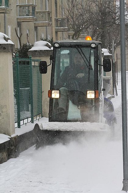 Sníh a mráz v Českých Budějovicích