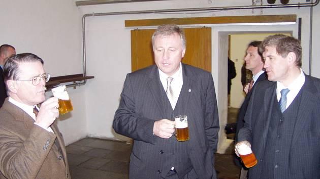 Mirek Topolánek v Českobudějovickém Budvaru.