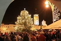 Vánoce v Českých Budějovicích. Ilustrační foto