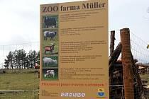 Zoo v Boršově nad Vltavou.
