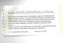 Dopis od zmláceného studenta Jana Vyhnálka z Prahy a studentů VŠ České Budějovice.