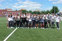 Fotbalisté SK Dynamo ČB na All Stars Cupu společně s Ajaxem Amsterodam