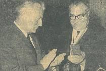 Prezident Antonín Novotný při návštěvě jižních Čech v roce 1965.