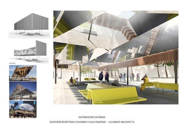 Příští podoba Pražské třídy vČeských Budějovicích podle návrhu architektů ze zlínského studia ellement architects.