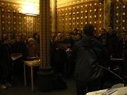 Sbor Mendík, působící při Gymnáziu J. V. Jirsíka, zpíval při mši v kostele Svaté rodiny v Českých Budějovicích.