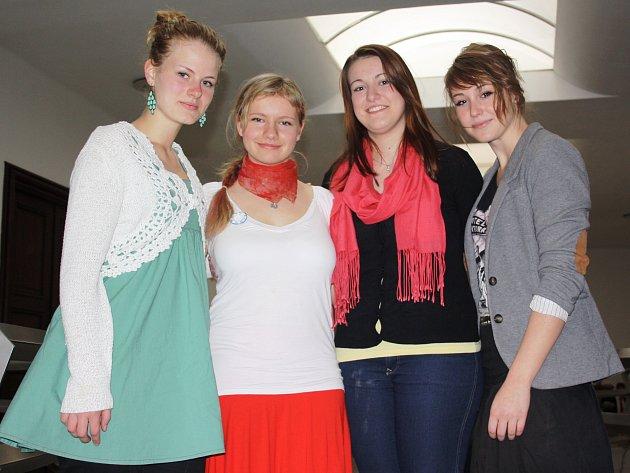 Čtveřice vítězek zleva Stanislava Jírovcová, Anna Kojanová, Eliška Kavanová a Kristýna Novotná.