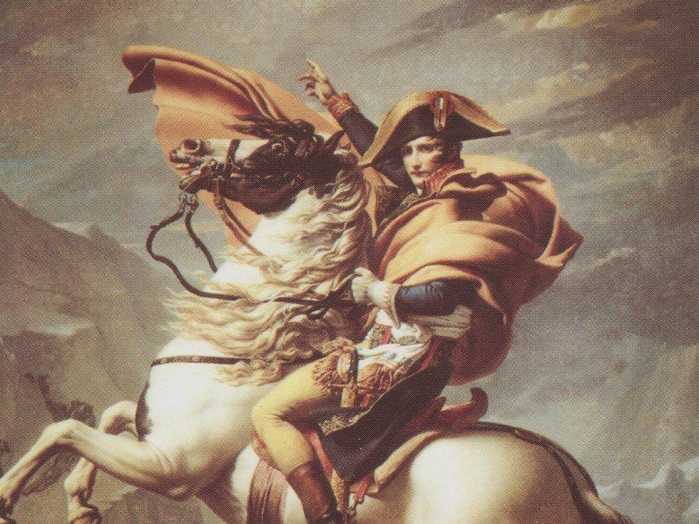 Napoleon přecházející Alpy (Jacques-Louis David 1800)