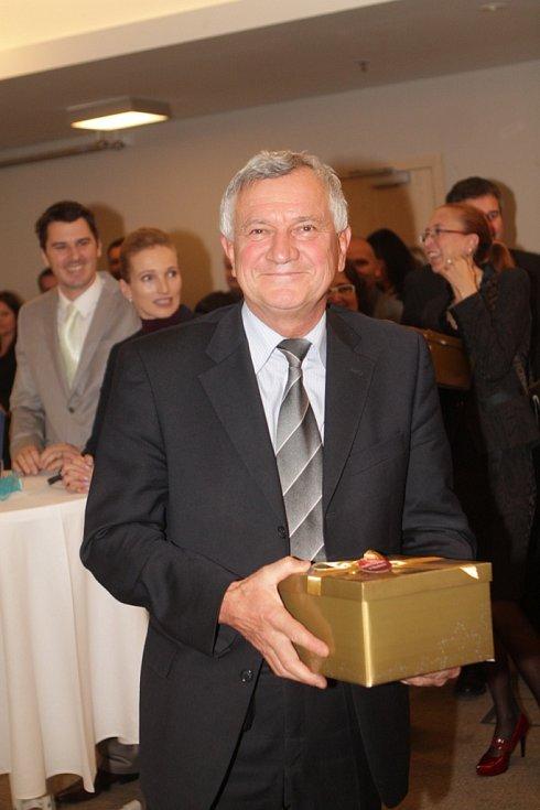 Slavnostní večer k ukončení třetího ročníku projektu Chováme se odpovědně. Na snímku generální ředitel Jednoty České Budějovice Jaroslav Froulík.