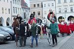 Zahájení Tříkrálové sbírky českobudějovickém náměstí Přemysla Otakara II.