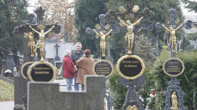 Hřbitov svaté Otýlie v Českých Budějovicích. Ilustrační foto.