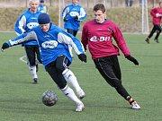 Pavel Mezlík dal v zápase s Vlašimí oba góly vítězné juniorky Dynama.
