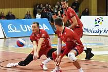 Volejbalisté Jihostroje v extralize poprvé zaváhali.