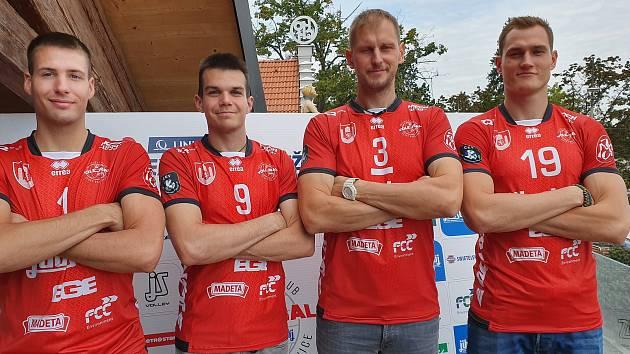 Na snímku (zleva) Mečkarov, Piskáček, Mach a Zmrhal.
