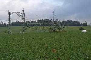 Kvůli problémům na lince velmi vysokého napění mimo elektrárnu Temelín způsobeným noční bouřkou zahájil Temelín plánovanou odstávku druhého bloku o týden dříve.