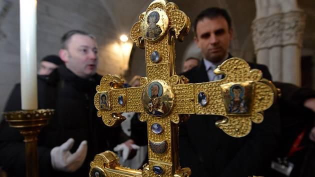 Závišův kříž zvítězil v anketě Deníku Jihočeská kulturní událost roku 2013. Byl vystaven ve vyšebrodském klášteře na Zemské výstavě. Asi 70 centimetrů vysoký dvouramenný kříž se řadí mezi deset nejvzácnějších relikviářů světa.