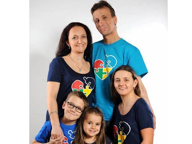 Andrea Jurásková s rodinou.