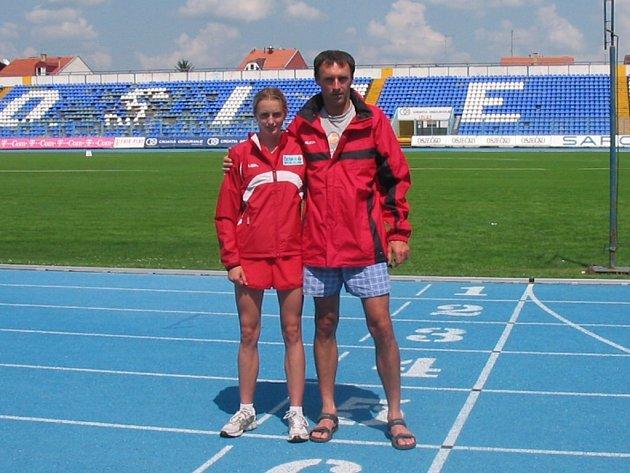 Atletický talent Lucie Sekanové se dál projevuje. Jihočeška se s trenérem Bahenským chystá na náročné období.