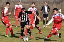 David Ledecký dal v zimní přípravě svůj první gól až v sobotním utkání proti rakouskému Blau-Weiss Linec, ve kterém černobílí nakonec vyhráli 3:1.