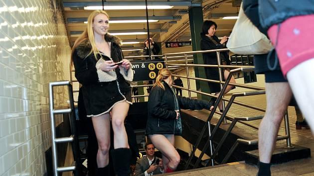 Výletnice metrem.