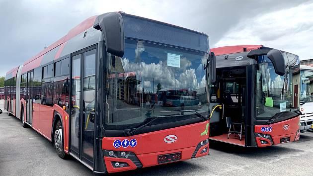 Nové autobusy Solaris Urbino n18 pro budějovickou MHD.