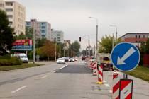 Stavební úpravy českobudějovické křižovatky ulic Branišovské a J. Opletala.