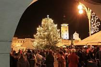V sobotu byl slavnostně rozsvícen vánoční strom. Nazdobené jsou i okolní ulice. Lidé si také užívají adventních trhů.