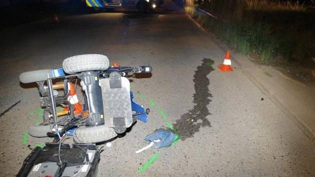Vozíčkáře srazil mladý řidič fiatu v českobudějovické Vrbenské ulici.