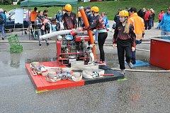 Devatenáct družstev se zúčastnilo sobotní hasičské soutěže na počest Karla Trnky v Českých Budějovicích.