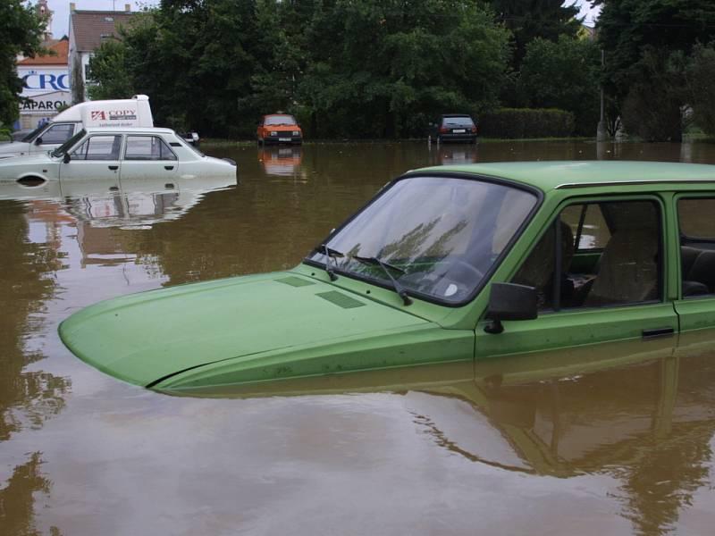 Povodně 2002 v Českých Budějovicích.