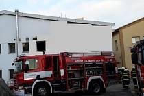 Hasiči zabránili dalším škodám na majetku firmy na Rudolfovské ulici v Českých Budějovicích.