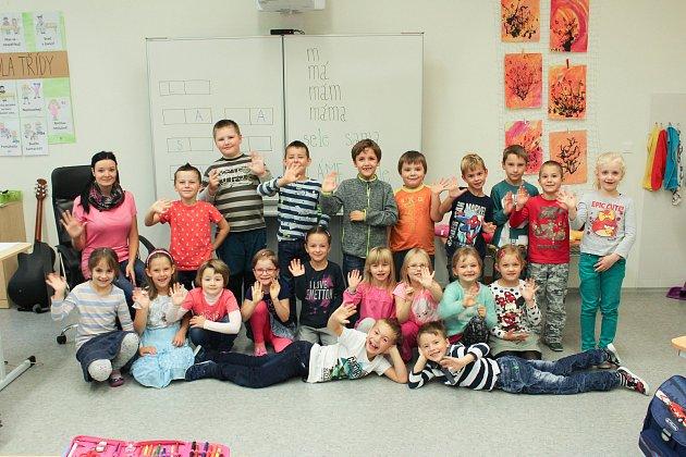 Žáci třídy 1.B ze Základní školy Emy Destinové