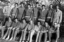 Českobudějovický volejbalový tým ze sezony 1972/73
