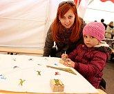 Tábor patřil od 3. do 5. října knihám, festival Tabook, zaměřený na malé nakladatele, přilákal stovky lidí. Na snímku jeden z workshopů.