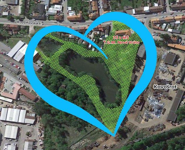 Zeleno-modré srdce Nového Vráta.