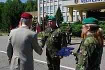 Zbyněk Šanta převzal  z rukou náčelníka generálního štábu armádního generála Petra Pavla čestný odznak Armády ČR Za zásluhy III. stupně.