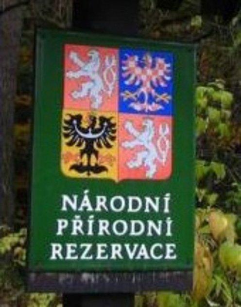 Značení Národní přírodní rezervace.