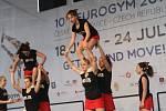 Mezinárodní gymnastické soutěže Eurogym začne v Českých Budějovicích přesně za 101 dní. Na snímku gymnastky Cheerleaders.