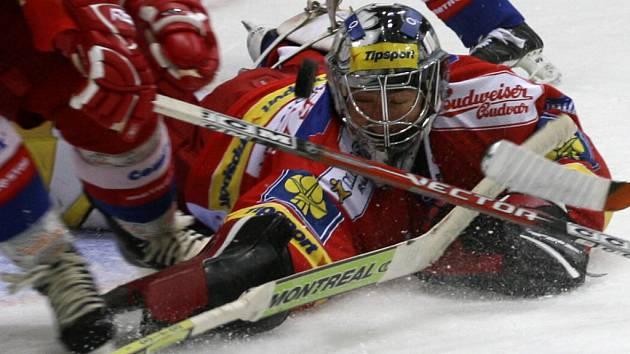 Brankář Martin Altrichter podává zatím v brance hokejistů HC Mountfield spolehlivé výkony.