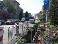 Lidická ulice v Českých Budějovicích.