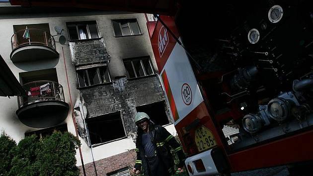 Požár v domě s pečovatelskou službou v Týně nad Vltavou