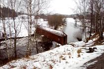 Teplá Vltava 30.ledna 2021 u Lenory.