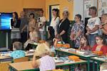 V ZŠ Trhové Sviny letos otevřeli tři první třídy, kde je 64 žáků. Snímek je z 1. C.