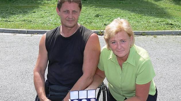 Českobudějovický Josef Štiak a Vlasta Hofmanová se radovali z výsledků na RW Czech Open 2009, které bylo mezinárodním mistrovstvím ČR.