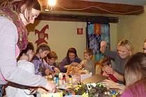 Na Hosíně vyráběli velikonoční dekoraci, zdobili kraslice.